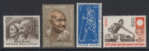 India, Sc 497-500 (SG 595-598), MNH