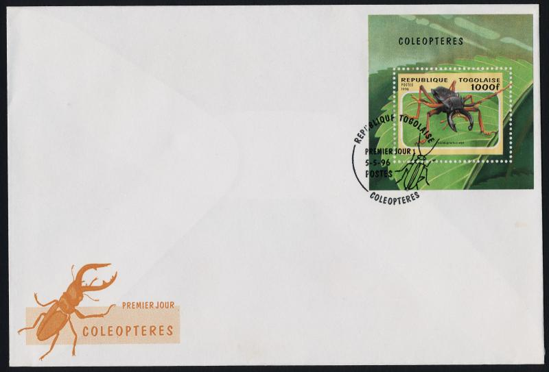 Togo 1712 on FDC - Insects, Beetles