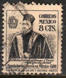 MEXICO 843, 8¢ 1934 Definitive Wmk Gobierno...279. Used. F-VF. (925)
