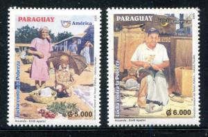 Paraguay 2780-81, MNH, American Issue Fight Against Poverty, 2005. x31110