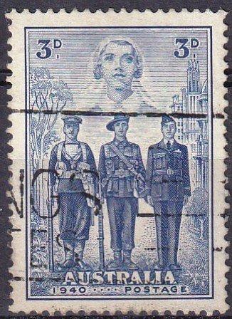 Australia #186 F-VF Used  CV $7.00 (Z3403)