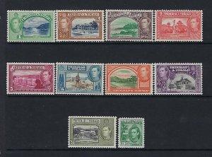 TRINIDAD & TOBAGO- SCOTT #50/51/52A/53A/54/55/56/57/58/60 PARTIAL SET -MINT LH
