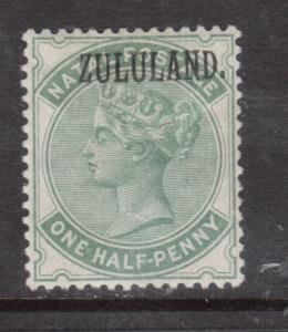Zululand #12a Very Fine Mint Original Gum Hinged