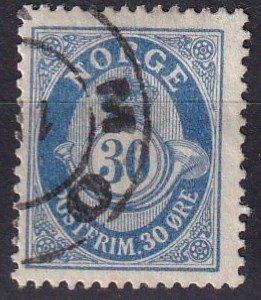 Norway #90 F-VF Used CV $8.00  (Z7776)
