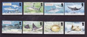 BIOT-Sc#305-12-unused NH set-Marine Life-Sharks & Rays-2005-