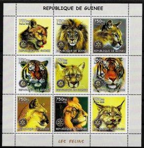 Guinea MNH S/S Wild Cats Wildlife 2002