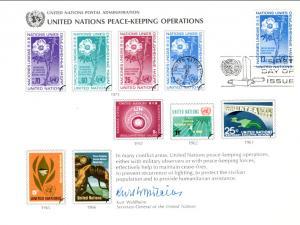 UN SC8 Peace Keeping New York Cancel FDC
