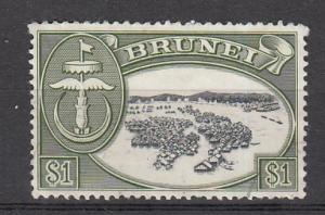Brunei  SC# 112  1968 $1 Kampong River Watermark 314 used