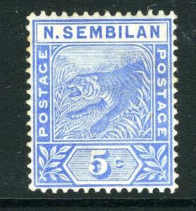 MALAYA (NEGRI SEMBILAN)-1894 5c Blue Sg 4 LIGHTLY MOUNTED MINT V8174
