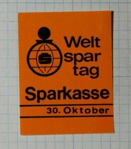 World Saving Day Sparkasse Munich Exposition Poster Stamp Ads