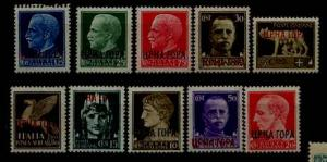 Montenegro 2N15-23, 10 MNH values SCV17+