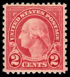 momen: US Stamps #579 MINT OG NH PF & PSE GRADED Certs XF-90