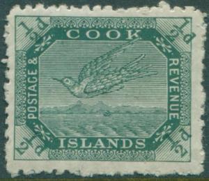 Cook Islands 1913 SG39 ½d deep green White Tern MLH