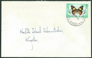 NORFOLK IS 1980 1c Butterfly local rate cover..............................43067
