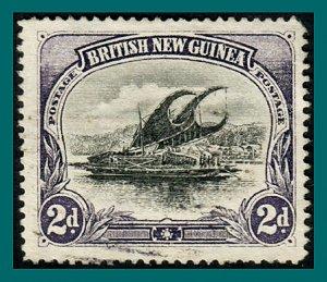 Papua 1901 Lakatoi, vert wmk, 2d used  #3,SG11