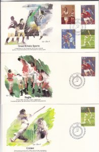 1980, Great Britain: Sports, Grp 5, FDC (S18787)