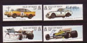 Isle of Man Sc 359-62 1988 Car Racing stamp set mint NH