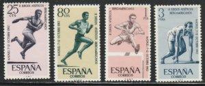 Spain MNH 1127-30 Track & Field Sports 1962