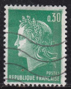 France 1230 Hinged 1969 Marianne 30c