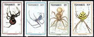 Transkei - 1987 Spiders Set MNH** SG 205-208