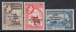 Ghana, Sc 25-27 (SG 173-174, 176), MLH
