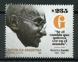 Argentina Famous People Stamps 2019 MNH Mahatma Gandhi 150th Birthday 1v Set