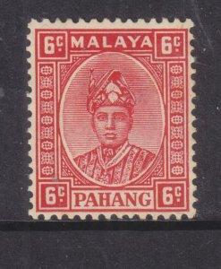 PAHANG, MALAYSIA, 1937 6c. Scarlet, lhm.