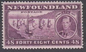 Newfoundland - #243 Long Coronation Issue, Fishing Fleet - MH