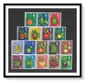 Montserrat #159-175 Fruits & Vegetables Set MNH