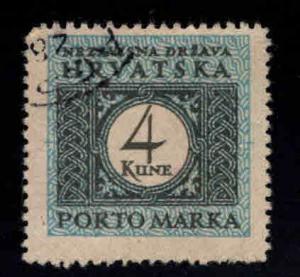 Croatia Scott J14 Used postage due stamp