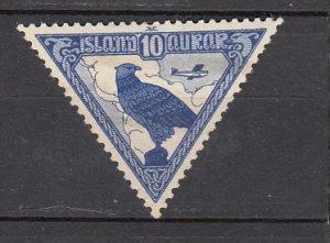 J26391  jlstamps 1930 iceland used #c3 falcon