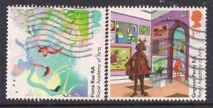 GB 2018 QE2 1st x 2 Royal Society of Arts used SG 4093 - 4094 ( H955 )
