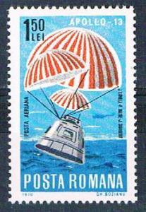 Romania C176 MNH Apollo 13 splashdown 1970 (R0618)+