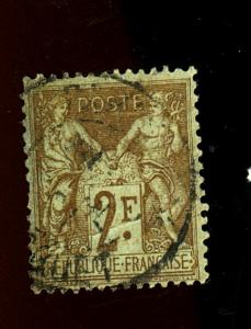 France #108 Used F-VF Crease Cat $50
