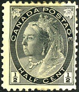 Canada #74 MINT OG HR Crease, Paper on gum