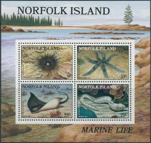 Norfolk Island 1986 SG382 Reef MS MNH