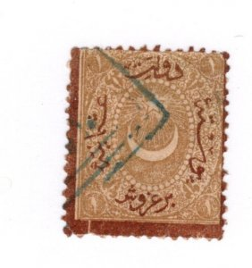 Turkey #J22 Faults Used - Stamp - CAT VALUE $12.50