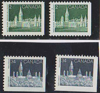 Canada USC #939, 939i, 947&947i F+-VF-NH Cat. $3.50 Four Different