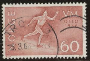 Norway Scott 488 Used 1966 skier stamp