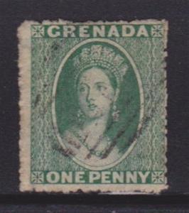 Grenada 1 Fine-used light cancel ! scv $ 50 ! see pic !
