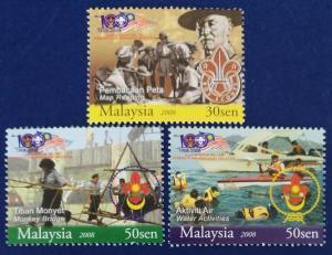 Malaysia Scott # 1207-9 Malaysian Scouting Association Centenary Stamps Set MNH