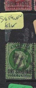 ST HELENA  (P0705BB)  QV 1/-   SG  19      VFU