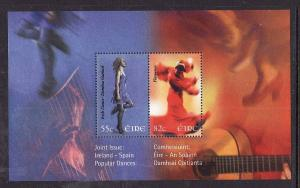 Ireland-Sc#1810-unused NH sheet-Dancers-Joint with Spain-2008-
