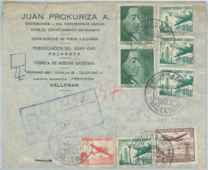 81531 - CHILE - POSTAL HISTORY -  Registered COVER to ITALY  1956  Nobel Price