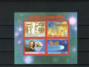 Montserrat 1986 Halley's Comet 2 SS IMPERF.MNH VF MON2IMP