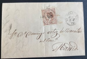1868 Caceres Spain Letter Sheet cover To Madrid