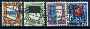 SWITZERLAND-1922 Pro Juventute set Sg J20-23 FINE USED V18124