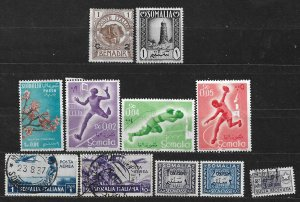 COLLECTION LOT OF 11 SOMALIA STAMPS 1906+