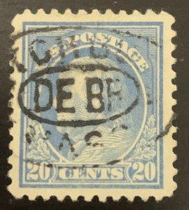 515 gray-blue 20 cent Franklin 1917