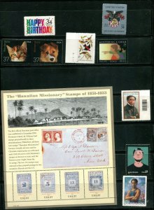 US 2002 Commemorative Year Set 70 stamps including 2 Sheets, Mint NH, see scans